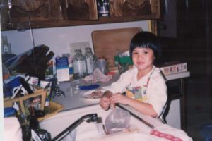 Helping in the kitchen (Age 7)