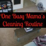 One Busy Mama's Cleaning Routine