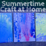 Nerf Gun Water Painting :: A Summertime Craft at Home