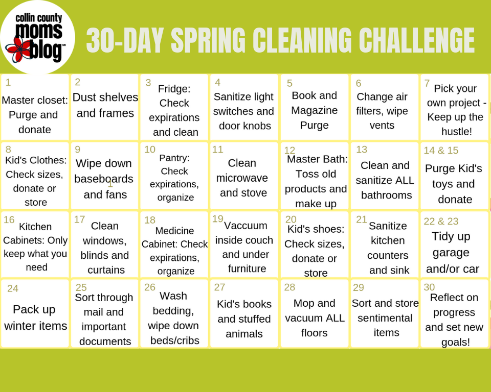 photograph regarding 30 Day Challenge Printable named Spring Cleansing: A Absolutely free 30-Working day Cleansing Difficulty Printable