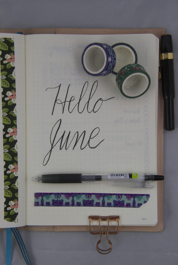 Month Intro Bullet Journal