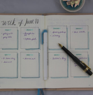 Bullet Journal Weekly Example