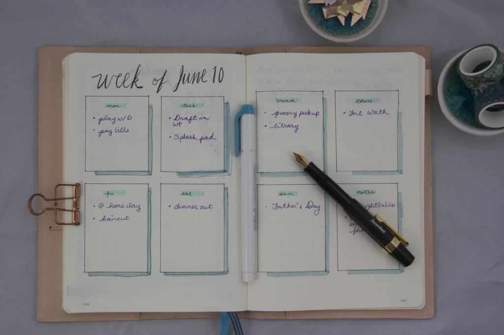 Bullet Journal Weekly Example