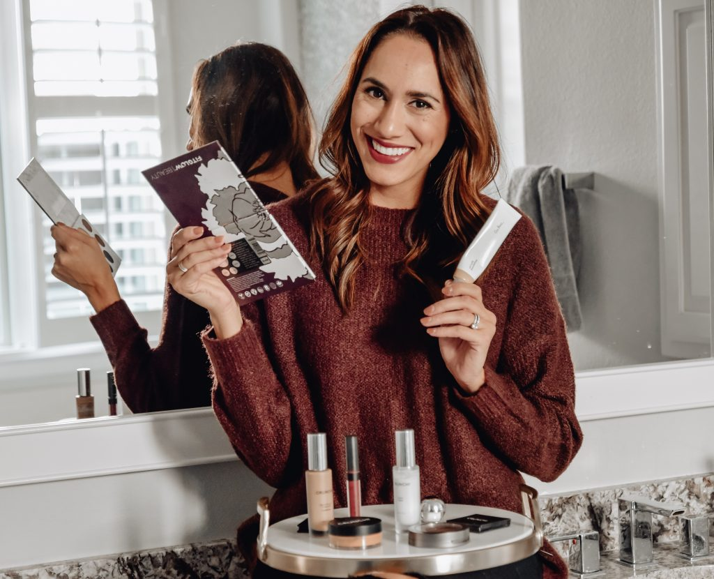 Natalie Bathroom with No-Toxic Beauty Products