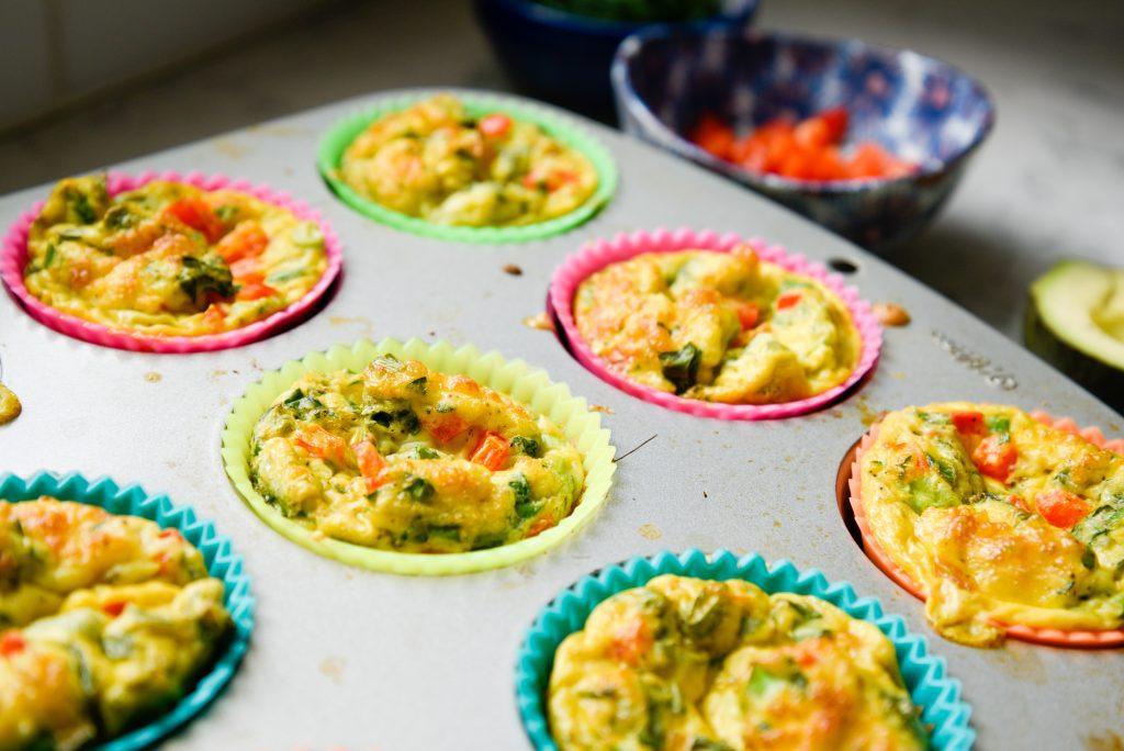 Baked veggie Omelet Muffins