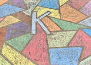 chalk mosaic