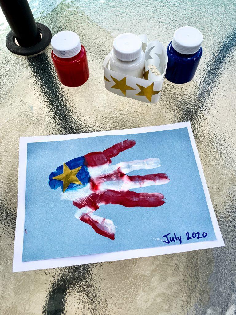 flag handprint