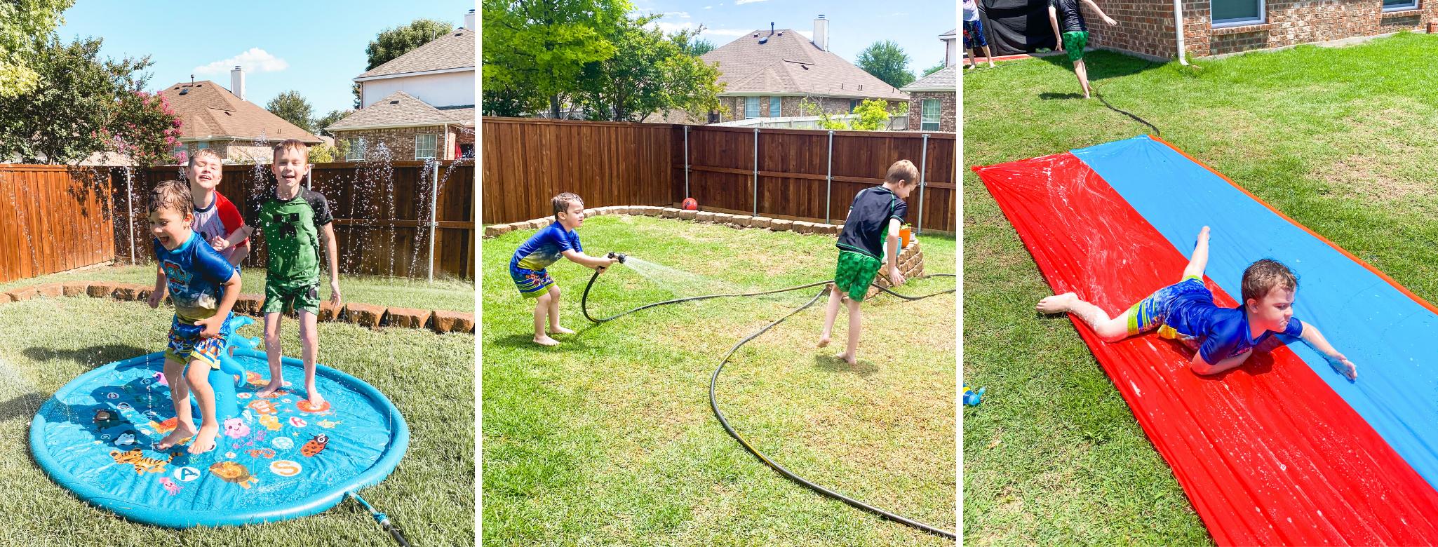 examples of backyard water activities