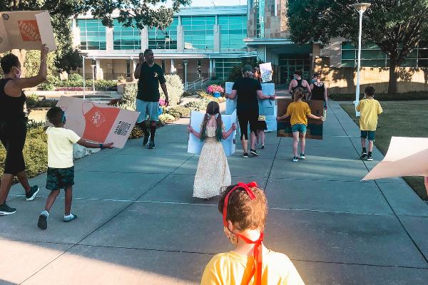 children marching in black lives matter protest