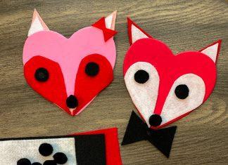 Valentine's fox craft