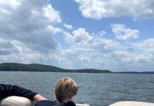On the water at Lake Ouachita