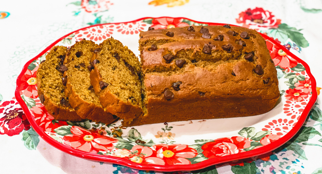 chocolate chip pumpkin bread as an example of tried and true pumpkin recipes