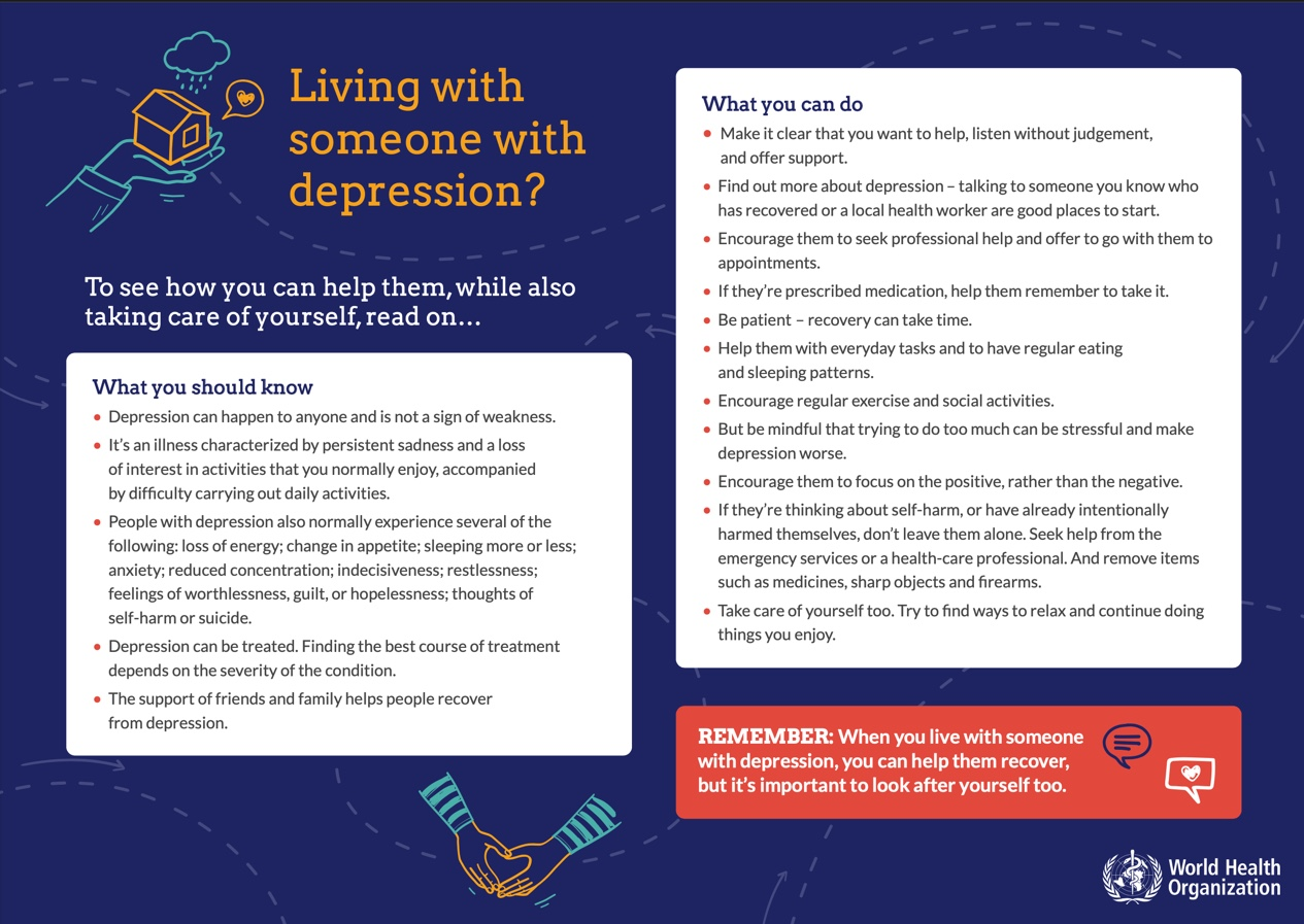 WHO living with someone with depression information